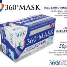 CONFEZIONE DA 50 MASCHERINE CHIRURGICHE TIPO 1